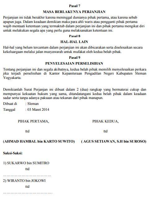 Contoh Pasal Ayat Peraturan Jual Beli Tanah Bangunan Hak Milik undang-undang