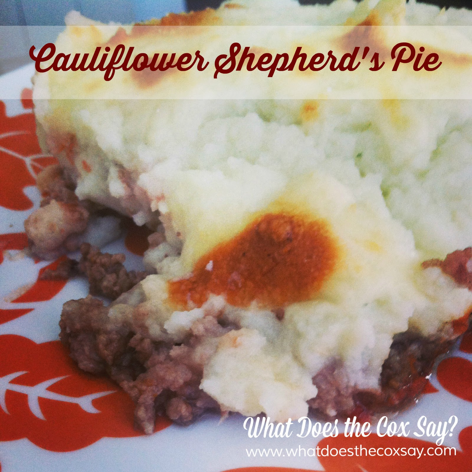 #whatdoesthecoxsay.com #Recipe #CauliflowerMashedPotatoes #ShepherdsPie #TakeShapeForLife #LeanandGreen