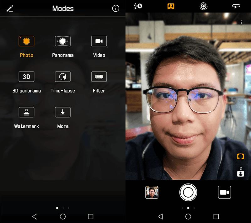 Selfie cam modes