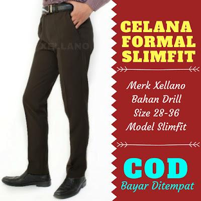 ual celana formal pria murah, model celana formal pria slim fit, harga celana panjang formal pria
