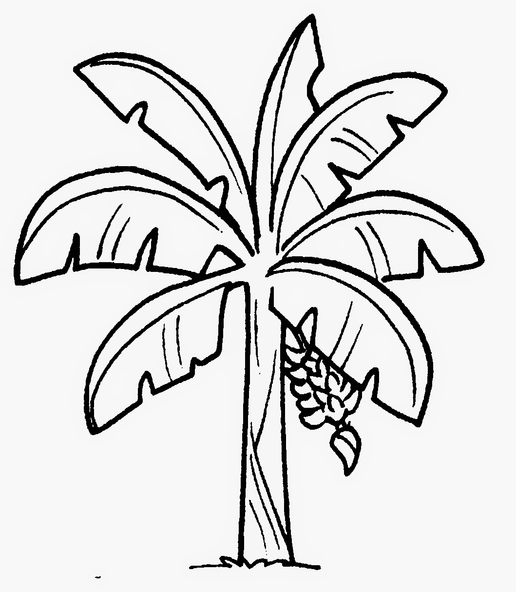 Dunia Sekolah Gambar Hitam Putih Drawing Bunga & Pokok