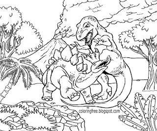 Intricate Dinosaur Coloring Pages