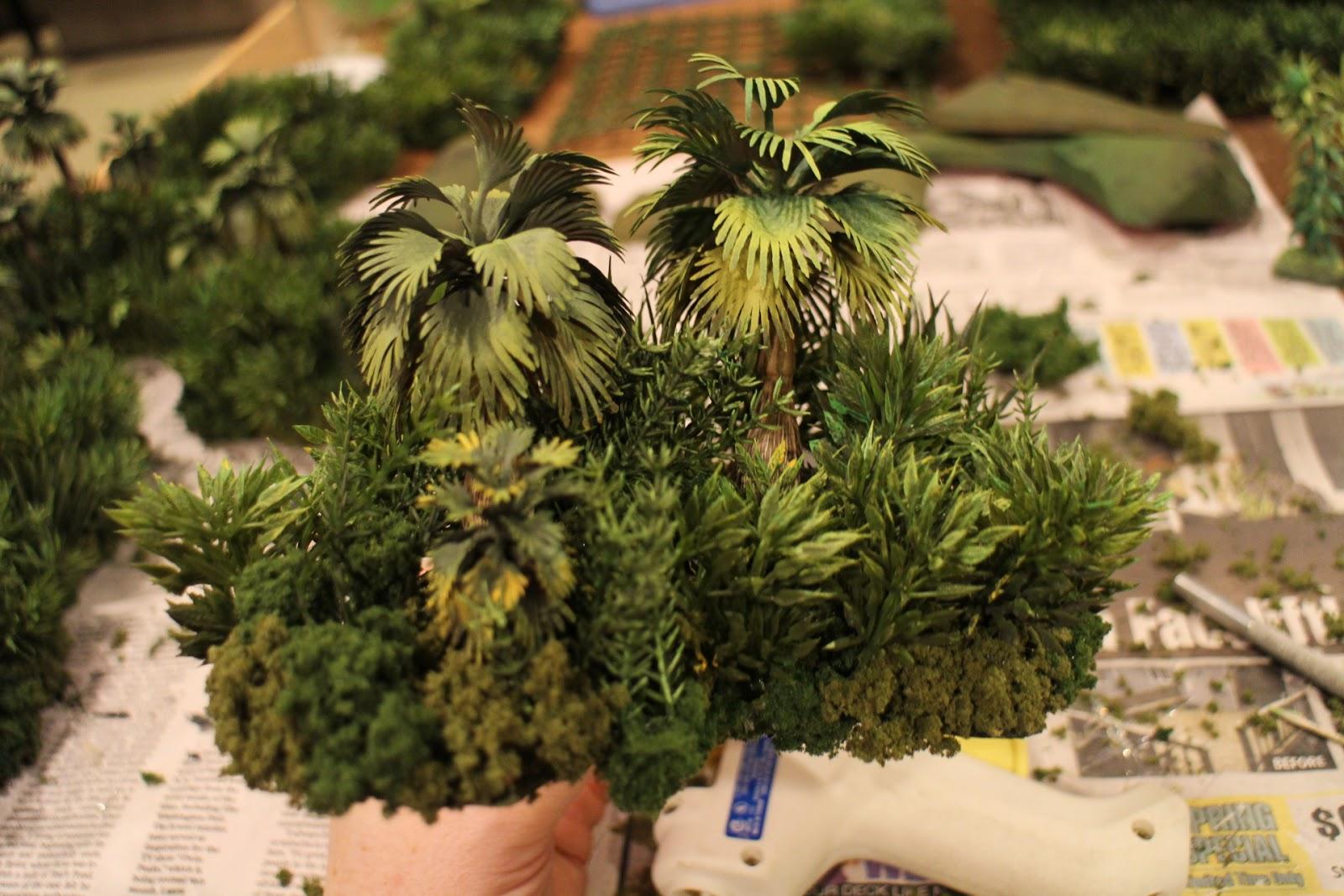 1000 Foot General Making Jungle Terrain