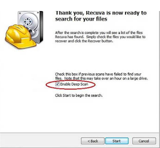 How to recover deleted photos using Recuva
