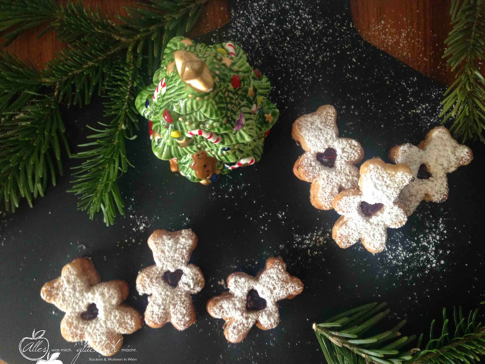Himbeer-Mürbteig-Kekse!