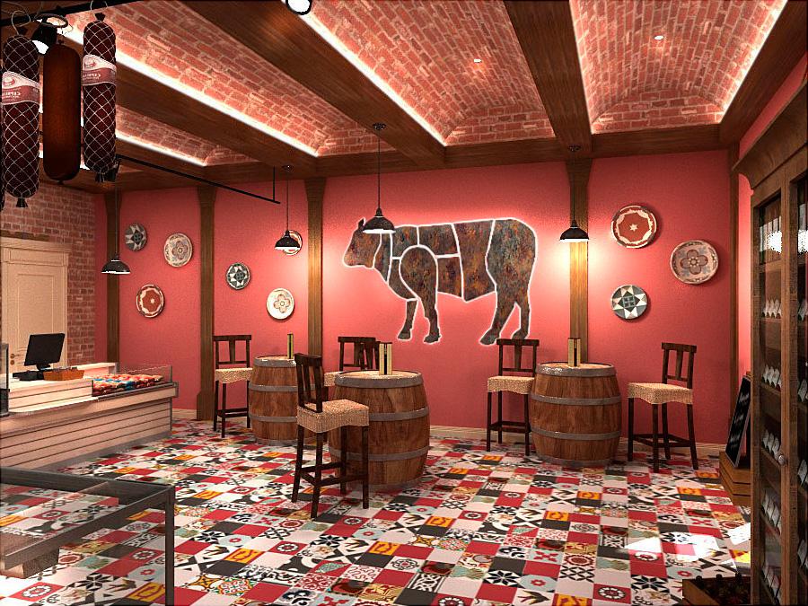 ДИЗАЙН МЯСНОГО МАГАЗИНА ШЕФ МОСКВА Dulisov design interior Butcher shop Moscow market студия интерьер