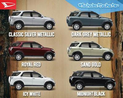 Warna terios, Warna mobil terios, Warna Daihatsu terios, Warna mobil