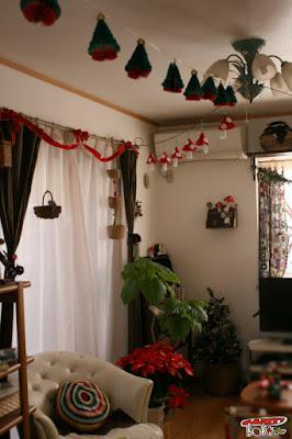 クリスマス部屋飾りガーランド