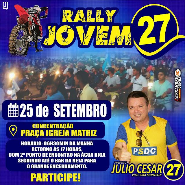 Domingo! Vem aí o mega Rally Jovem do 27 em Anapurus, reúna sua turma e participe!