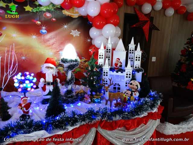 Decoração de mesa tema do Papai Noel - Festa de aniversário