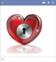 Facebook lock heart