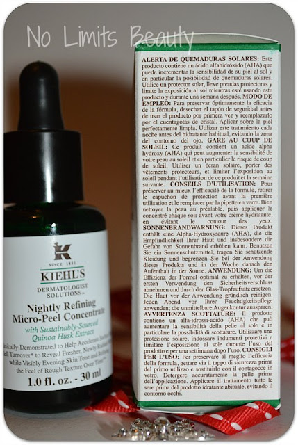 Kiehl's: Nightly Refining Micro-Peel Concentrate a base de Quinoa (review)