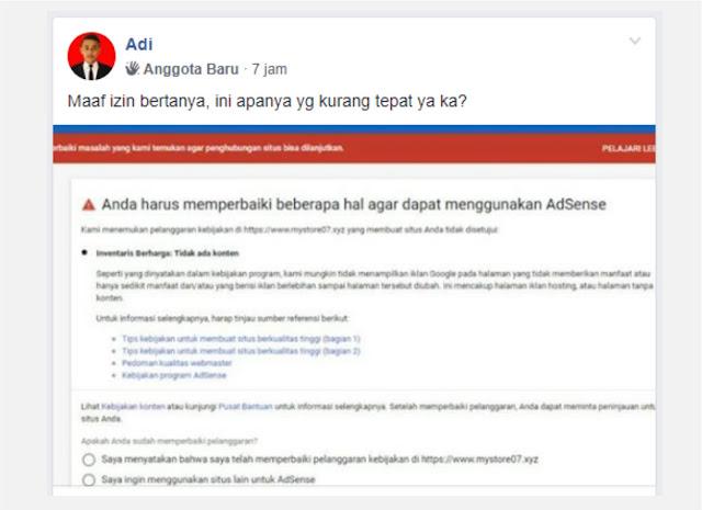 Atasi tidak menampilkan iklan google pada halaman
