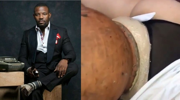 Okey Bakassi Comments to Viral video of lady undergoing a*s enlargement via a clay pot