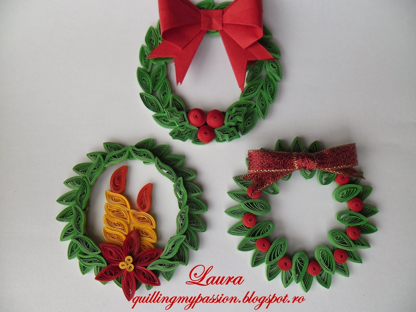 Quilling Boule De Noel Quilling My Passion Quilled Christmas Ornaments