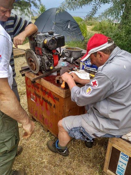 Kirchdorfer Rot Kreuz Mitarbeiter baute Aufbereitungsanlage in Mazedonien