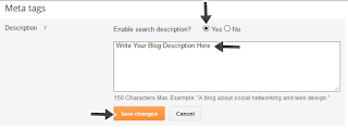 write your blogger or website brief search description here