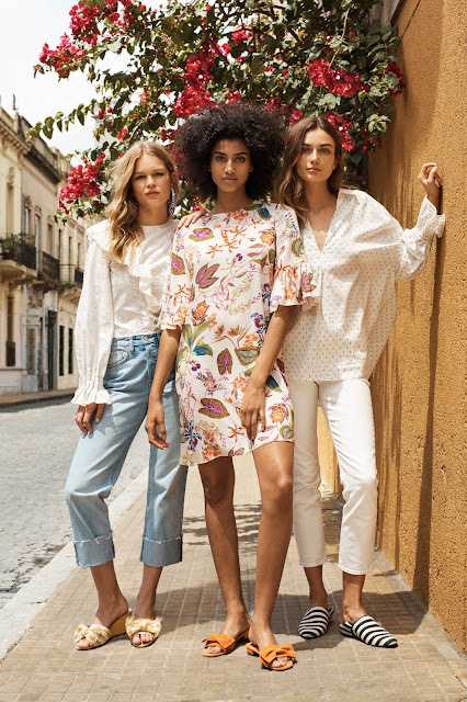 Andreea Diaconu, Anna Ewers and Imaan Hammam, shot in Buenos Aires for H&M's Spring Campaign