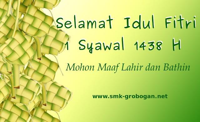 Selamat Idul Fitri 1 Syawal 1438 H
