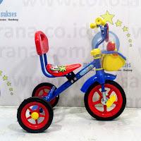 Sepeda Roda Tiga BMX PMB 919-SM Cat Musik Sandaran Red/Blue