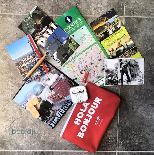 cadeaux de la renfe-SNCF et de l'office du tourisme de Figuères