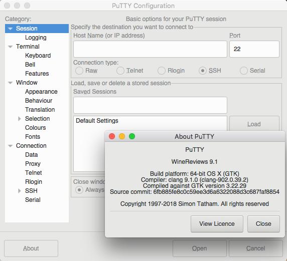 Wine Reviews : Putty for Mac 64bit just around the corner