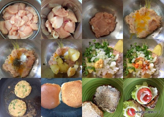 how to make potato burger at home