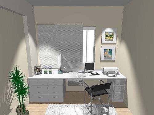 Ambientes & Ideias Home Offices ~ Quarto Casal Pequeno Com Escritorio