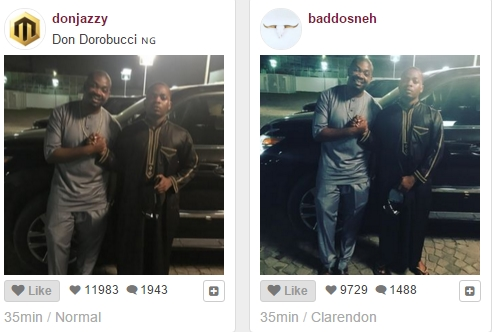 Image result for don jazzy snap with olamide