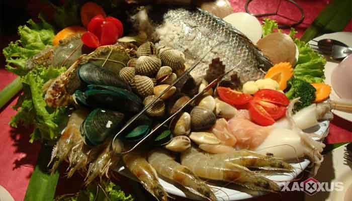 Makanan penambah darah - Makanan laut, makanan penambah darah