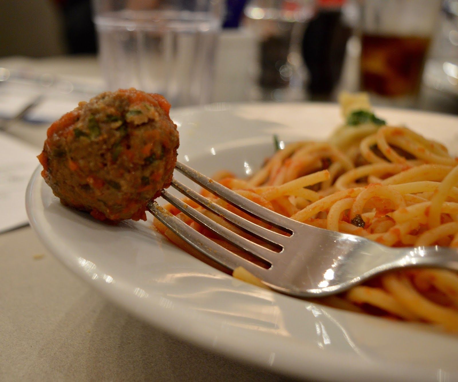 Carluccio's - intu Metrocentre | Children's Menu Review - children's spaghetti and meatballs