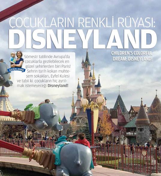 çocukla Paris Disneyland gezimiz