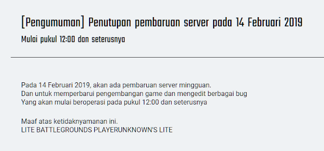 Jam Rilis PUBG Lite PC Beta Test Indonesia 14 Februari 2019