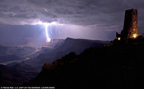 Grand Canyon Lightning