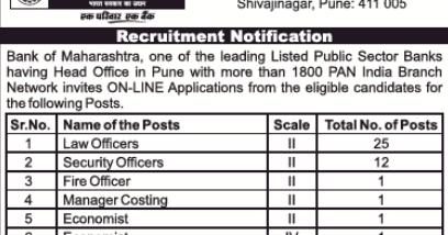 Bank of Maharashtra Recruitment 2019 - Apply Online 46