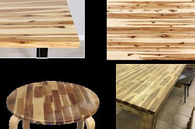 mặt bàn gỗ Tràm ghép Thanh