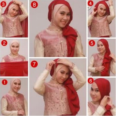 Kreasi Hijab Menjuntai