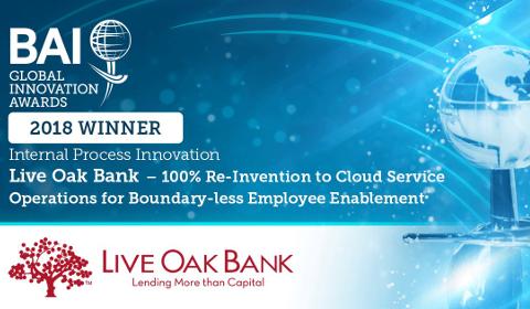 BAI Global Innovation Awards 2018 – Live Oak Bank