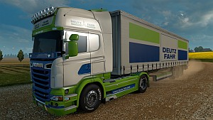 Deutz Fahr Scania R skin + trailer