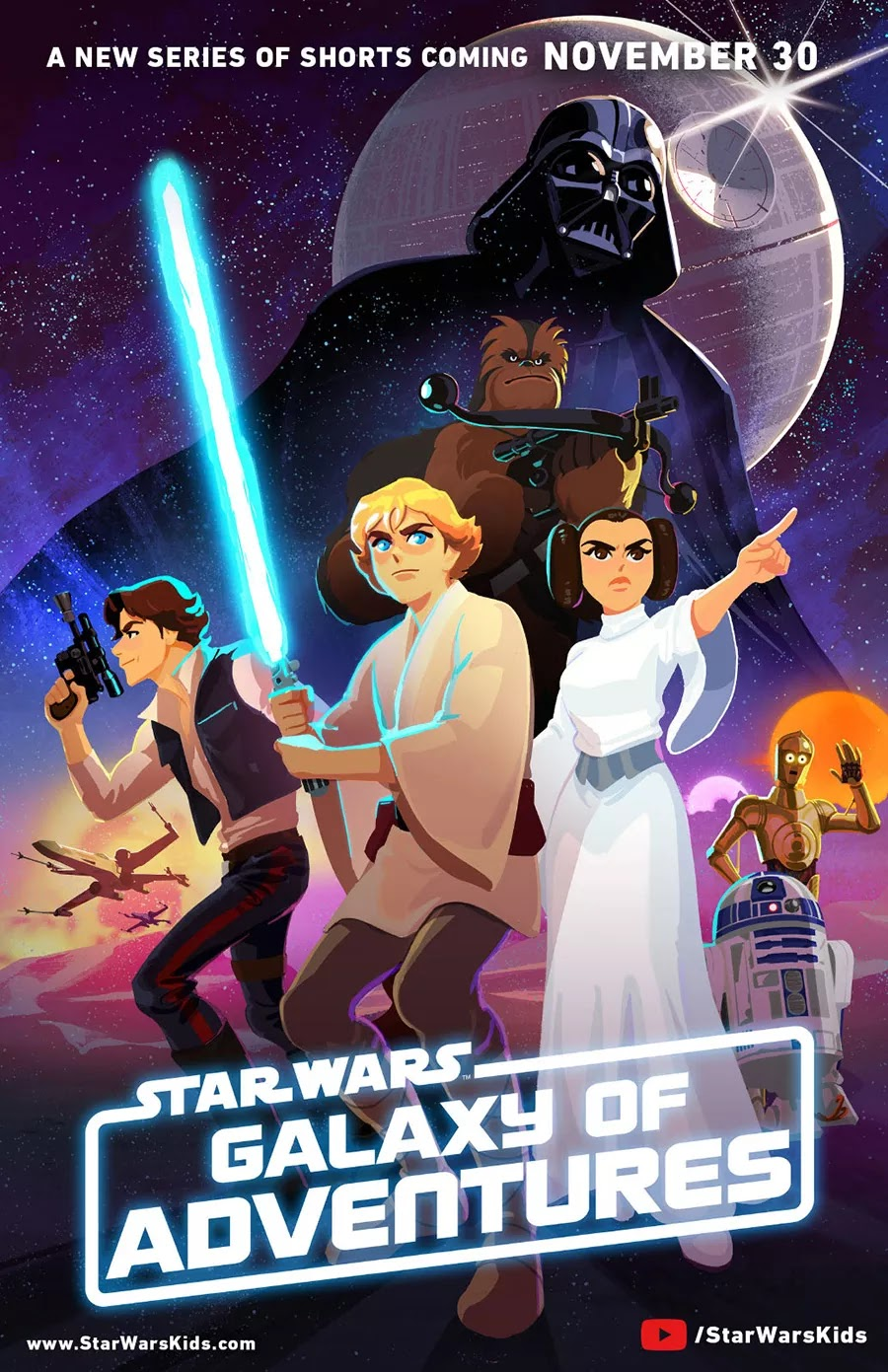 Disney Turns Classic Star Wars Films Into Animated Shorts, Launching Star Wars Kids YouTube Channel