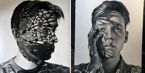 00-Dylan-Andrew-Shadows-and-Textures-Interacting-with-Charcoal-Drawings-www-designstack-co