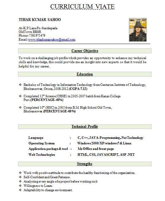 Best Resume For Fresher Mechanical Engineer - Template