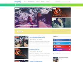 New Simplify 2 - Responsive Blogger Template