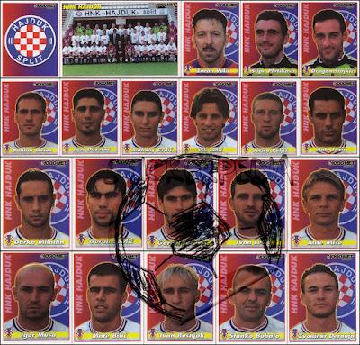 Hajduk Split sličice album Nogomet 2000/01