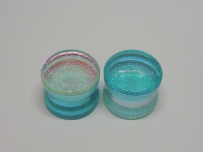 Deluxe dichroic plugs (Turquoise pink)