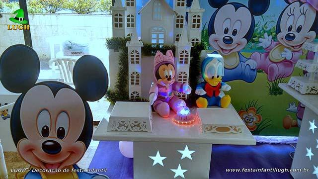 Decoração festa Baby Disney Rosa para aniversário feminino de 1 ano