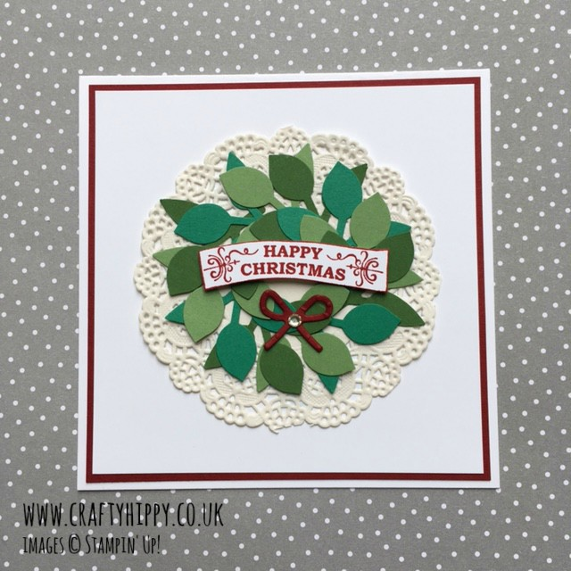 Take a look at how you can use the new Leaf Punch by Stampin' Up! to create a Christmas Wreath