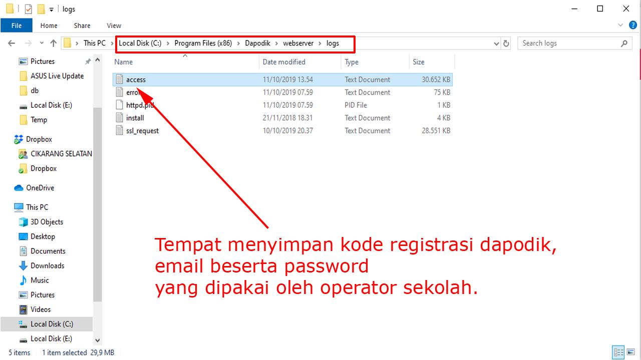 Lupa Kode Registrasi, Email dan Password Dapodik? Ini Solusinya