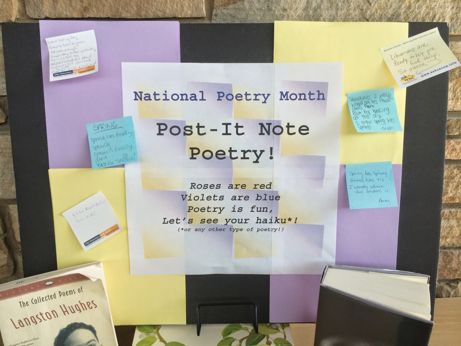 gaithersburg library, national poetry month