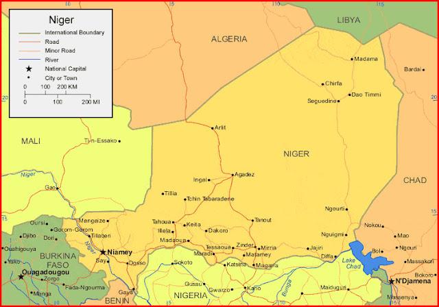image: Map of Niger